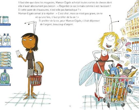 Actu litt litterature chronique la cigale - Illustration la cigale et la fourmi ...